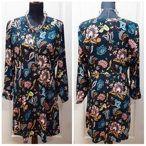 💎NEW Ann Taylor LOFT Blue Multicolor Floral Dress